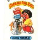 Cranky Frankie License Back Sticker 1985 Topps Garbage Pail Kids UK Mini #18a