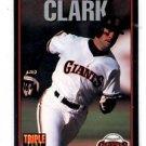 Will Clark Trading Card Single 1993 Leaf Triple Play #107 Giants