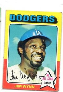 Jim Wynn Trading Card Single 1975 Topps #570 Dodgers VG