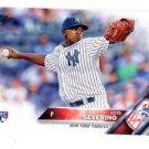 Luis Servino RC Trading Card Single 2016 Topps #265 Yankees
