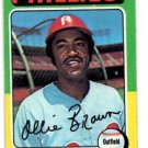 Ollie Brown Trading Card Single 1975 Topps #596 Phillies EXMT