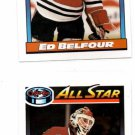 Ed Belfour Trading Card Lot of (2) 1991-92 OPC #263 Blackhawks