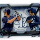 Casey Gillaspie Garrett Whitley Teams of Tomorrow 2015 Bowman Draft #TDC12 Rays