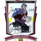 Peter Budaj Trading Card Single 2007-08 Upper Deck MVP #3 Avalanche