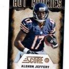 Alshon Jeffery Hot Rookies Trading Card Single 2012 Score #26 Bears