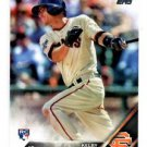 Kelby Tomlinson RC Trading Card Single 2016 Topps #322 Giants
