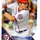 Trea Turner RC Trading Card Single 2016 Topps #103 Nationals
