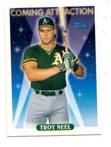 Troy Neel Trading Card Single 1993 Topps 807 Athletics