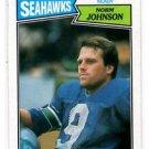 Norm Johnson Trading Card Single 1987 Topps #179 Seahawks
