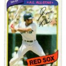 Jim Rice Trading Card Single 1980 Topps 200 Red Sox