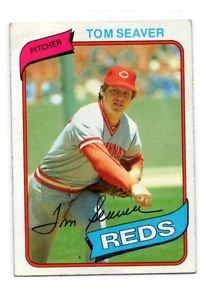 Tom Seaver Trading Card Single 1980 Topps 500 Reds NMMT