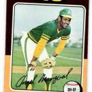 Angel Mangual Trading Card Single 1975 Topps #452 NMT Athletics