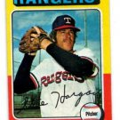 Steve Hargan Trading Card Single 1975 Topps #362 Rangers EX