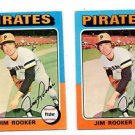 Jim Rooker Trading Card Lot of (2) 1975 Topps #148 Pirates EX+