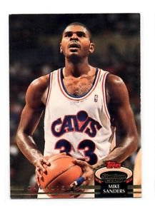 Mike Sanders Trading Card 1992-93 Topps #315 Cavaliers