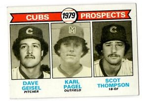 Dave Geisel Karl Pagel Scot Thompson  1979 Topps #716 Cubs NMT