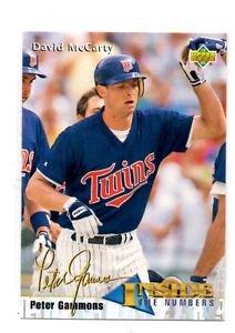 David McCarty Trading Card Single 1993 Upper Deck #462 Twins