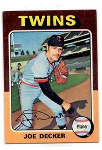 Joe Decker Trading Card Single1975 Topps 102 Twins NMT