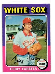 Terry Foster Trading Card Single 1975 Topps #137 Whtie Sox EXMT
