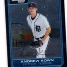 Andrew Kown Trading Card 2006 Bowman Chrome #BC40 Tigers