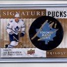 James Van Reimsdyk Auto Signature Pucks 2014-15 UD Trilogy #SPJV Leafs