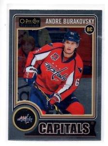Andre Burakovsky RC Trading Card Single 2014-15 UD Platinum #163 Capitals