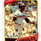 Eddie Murray Trading Card Single 1980 Topps 160 Orioles NMT