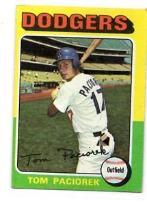 Tom Paciorek Trading Card Single 1975 Topps #523 Dodgers VGEX