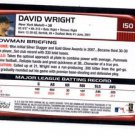 David Wright Trading Card Single  2008 Bowman #150 Mets NMT