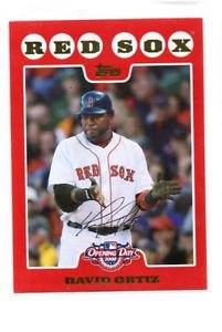David Ortiz Trading Card SIngle 2008 Topps Opening Day #100 Red Sox