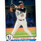 Gary Sheffield Trading Card Single 2016 Topps Archives 158 Marlins