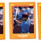 Keith Hughes RC Trading Card Lot of (3) 1988 Score #635 Phillies