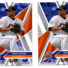 Johan Santana Trading Card Lot of (2) 2008 Upper Deck X #64 Mets