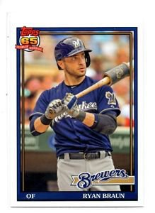 Ryan Braun Trading Card Single 2016 Topps Archives 226 Brewers