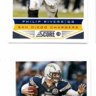 Philip Rivers Trading Card Lot of (2) 2013 Score #179 Chargers