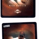 Rich Aurilia Trading Card :Lot of (2) 2003 Upper Deck Victory #80 Giants