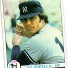 Lou Piniella Trading Card 1979 Topps 648 Yankees NMMT