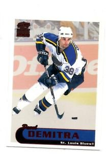 Pavol Demitra Trading Card Single 1999-00 Pacific Paramount #195 Blues