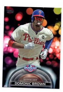 Dominic Brown Bubble Trouble Trading Card Single 2016 Topps Opening Day #BT8
