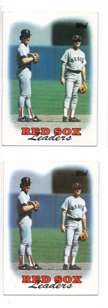 Red Sox Team Leaders Trading Card  Lot of (2) 1988 Topps #21
