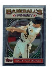 Andy Van Slyke Trading Card 1993 Topps Finest #185 Pirates