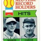 Ty Cobb George Sisler Record Holders Trading Card 1979 Topps  #411
