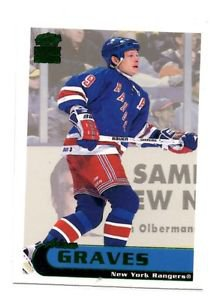 Adam Graves Emerald Trading Card Parallel 1999-90 Paramount #149 Rangers