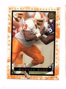 Warren Sapp Trading Card 1996 Fleer Ultra #186 Buccaneers
