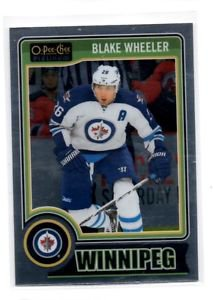 Blake Wheeler Trading Card Single 2014-15 UD OPC Platinum #73 Jets