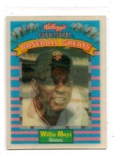 Willie Mays Trading Card single 1991 Sportflics Kellogs #3 Giants