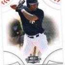 Abraham Almonte Trading Card SIngle 2008 Donruss Threads #97 Yankees