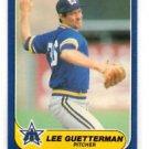 Lee Guetterman Trading Card Single 1986 Fleer Update #U46 Mariners