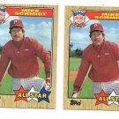 Mike Schmidt Trading Card Lot of (3) 1987 Topps #597 Phillies