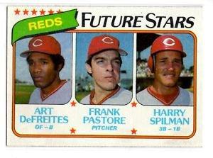 Art Defreites Frank Pastore Harry Spilman RC 1980 Topps #677 Reds